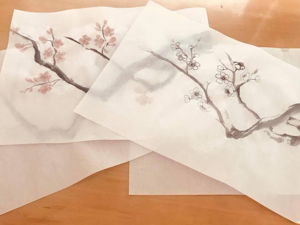 ציור יפני עדין